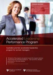 Accelerated Leadership Performance Program