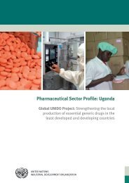 Pharmaceutical sector profile: uganda - unid - unido