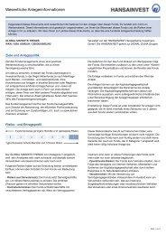 GLOBAL MARKETS TRENDS - DE000A0M2JH2 - Hansainvest
