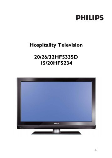 Philips Flat TV professionali - Istruzioni per l'uso - DAN