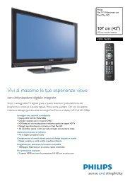 Philips Flat TV widescreen - Scheda tecnica - ITA