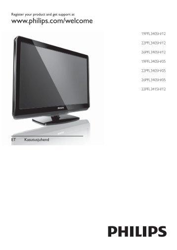 Philips TV LCD - Istruzioni per l'uso - EST