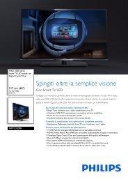 Philips 3000 series Smart TV LED sottile - Scheda tecnica - ITA