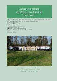 März 2011 - Petrusbruderschaft
