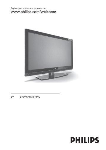 Philips Flat TV - Istruzioni per l'uso - SWE
