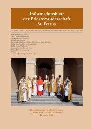 Unser Osterlamm ist geschlachtet: Christus - Petrusbruderschaft