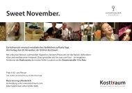 Kosttraum - Sweet November_Einladung_2015