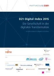D21-Digital-Index 2015 Die Gesellschaft in der digitalen Transformation