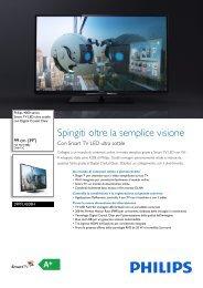 Philips 4000 series Smart TV LED ultra sottile - Scheda tecnica - ITA