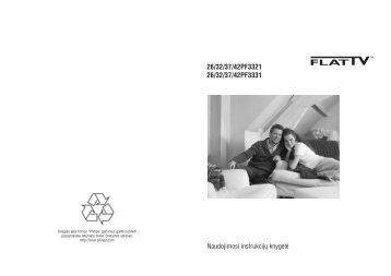 Philips Flat TV Widescreen - Istruzioni per l'uso - LIT