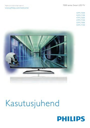 Philips 7000 series Smart TV LED 3D ultra sottile - Istruzioni per l'uso - EST
