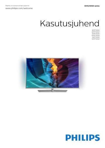 Philips 6500 series TV LED sottile Full HD Android™ - Istruzioni per l'uso - EST