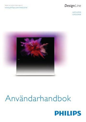 Philips DesignLine Smart TV LED ultra sottile - Istruzioni per l'uso - SWE