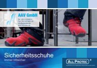AAV | Sicherheitsschuhe | Immer trittsicher | 2015