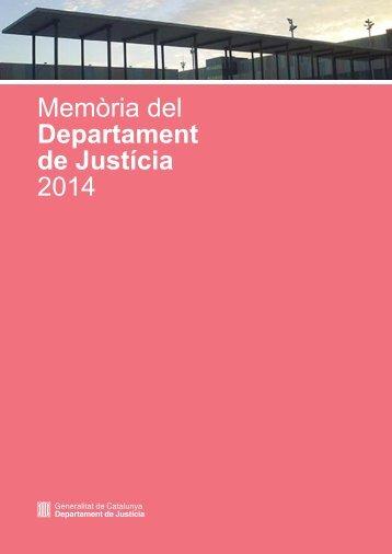 Memòria del Departament de Justícia 2014