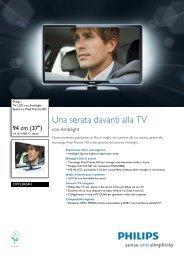 Philips TV LCD - Scheda tecnica - ITA