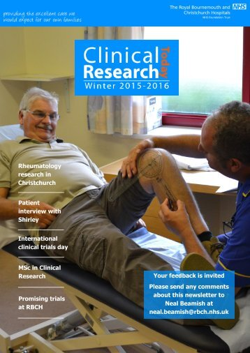 Clinical Research Today - Winter (RBCH Research Newsletter)