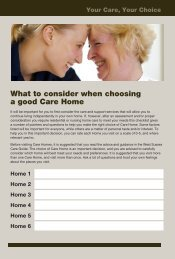What to consider when choosing a good Care Home