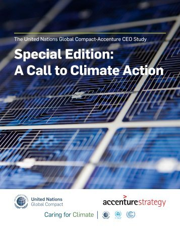Special Edition A Call to Climate Action