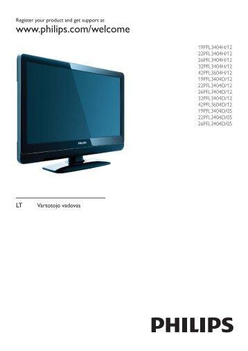Philips TV LCD - Istruzioni per l'uso - LIT