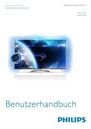 Philips 9000 series Smart TV LED ultra sottile - Istruzioni per l'uso - DEU