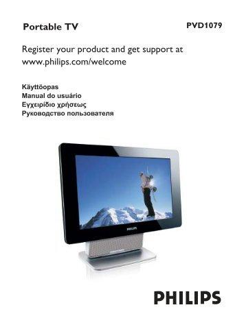 Philips TV portatile - Istruzioni per l'uso - FIN