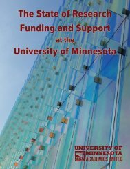 The State of Research Funding and Support University of Minnesota