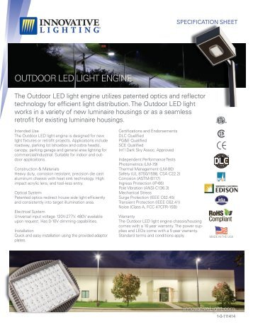 OUTDOOR LED LIGHT ENGINE outdoor supplies