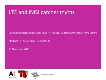 LTE and IMSI catcher myths