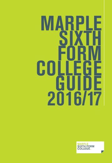 SIXTH FORM COLLEGE GUIDE 2016/17