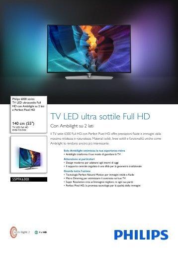 Philips 6000 series TV LED ultra sottile Full HD - Scheda tecnica - ITA