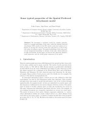 Some typical properties of the Spatial Preferred Attachment model