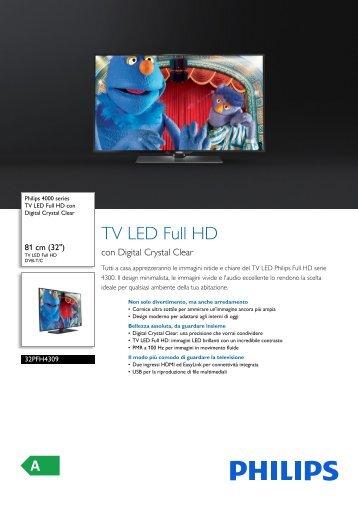 Philips 4000 series TV LED Full HD - Scheda tecnica - ITA