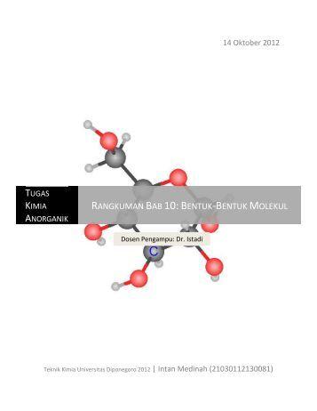 Rangkuman Bab 10: Bentuk-Bentuk  Molekul - Jurusan Teknik Kimia