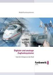 Digitale und analoge Zugfunksysteme