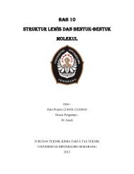 Bab 10 Struktur lewis dan BENTUK-BENTUK ... - Jurusan Teknik Kimia