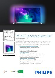 Philips 9100 series TV UHD 4K Android™ Razor Slim - Scheda tecnica - ITA