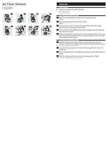 Philips Soluzione di pulizia Jet Clean - Istruzioni per l'uso - ZHT