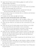 Philips SalonMultistylist Multi-styler - Istruzioni per l'uso - DEU - Page 6