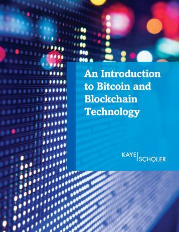 An Introduction to Bitcoin and Blockchain Technology