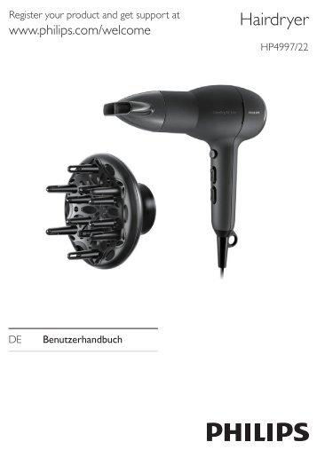 Philips Asciugacapelli - Istruzioni per l'uso - DEU
