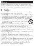 Philips Asciugacapelli - Istruzioni per l'uso - DEU - Page 3