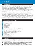 Philips Satinelle Epilatore - Istruzioni per l'uso - ENG - Page 6