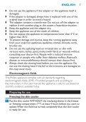 Philips Satinelle Epilatore - Istruzioni per l'uso - ENG - Page 7