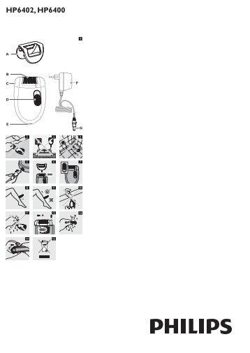 Philips Satinelle Epilatore - Istruzioni per l'uso - HRV
