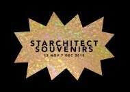Starchitect Souvenirs- Opening Night Presentation