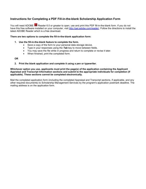 instructions for completing a pdf fill in the blank scholarship