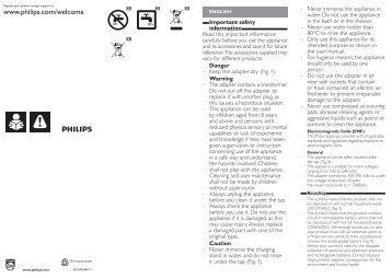 Philips Beardtrimmer series 5000 Effetto barba di 3 giorni - Important Information Manual - SRP