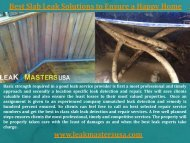 Best Slab Leak Solutions to Ensure a Happy Home
