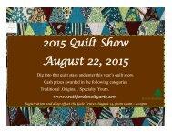 2015 Quilt Show August 22 2015